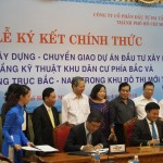 Mr. Le Quoc Binh, CII CEO, and Mr. Bui Xuan Cuong, Head of HCMC Transportation Department, signed the official contract