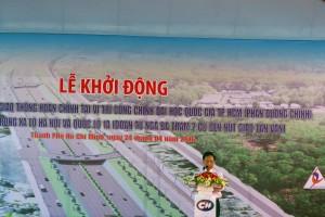 CT HĐQT CII Lê Vũ Hoàng phát biểu tại buổi lễ mở rộng Xa Lộ Hà Nội