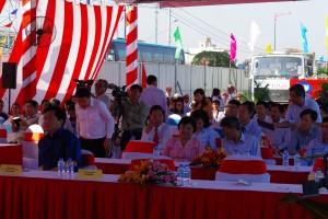 Toàn cảnh buổi lễ khởi động xây dựng hoàn chỉnh mở rộng Xa lộ Hà Nội