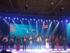 Đại diện các công ty được vinh danh trong Top 50 DN kinh doanh hiệu quả nhất Việt Nam 2017