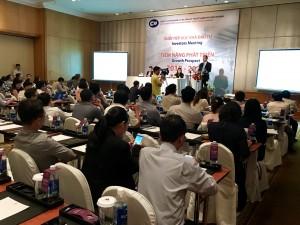 Tổng Giám đốc Lê Quốc Bình phát biểu trong hội nghị