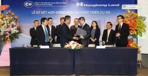 Lãnh đạo CII và Hongkong Land bắt tay ký kết hợp đồng